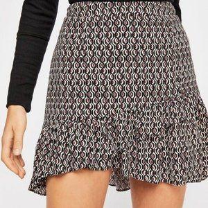 Free People Nadia Ruffle Mini Skirt Sz 4 NWT